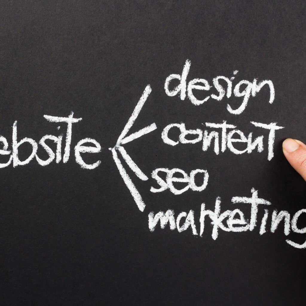 website design content blackboard