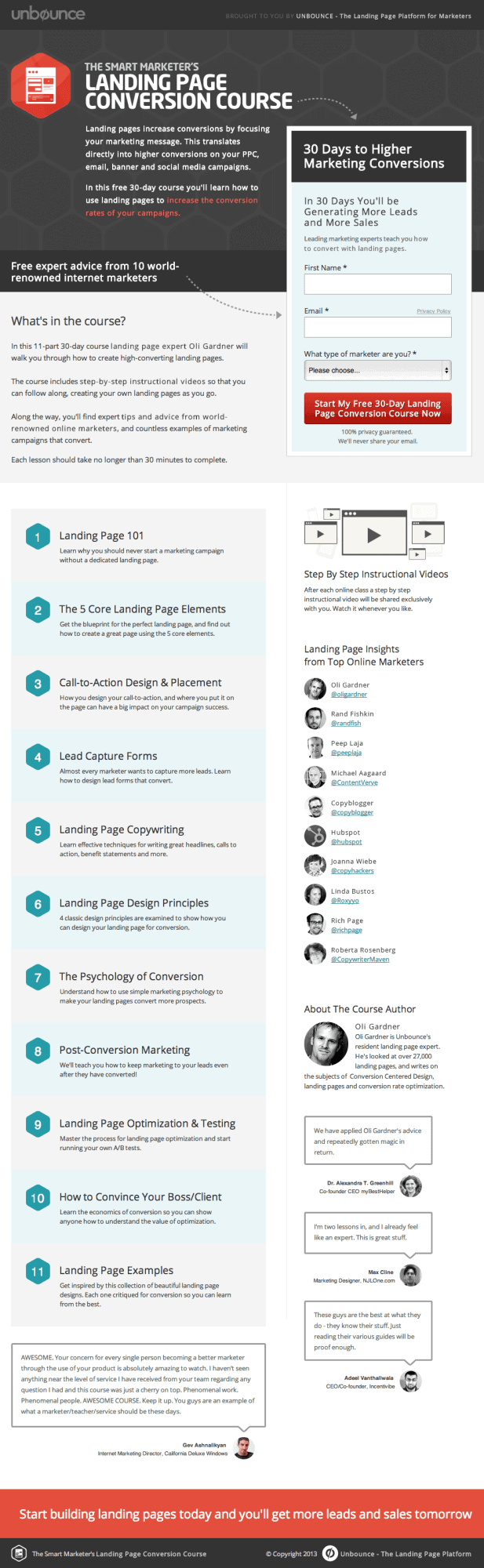 unbounce sales page example