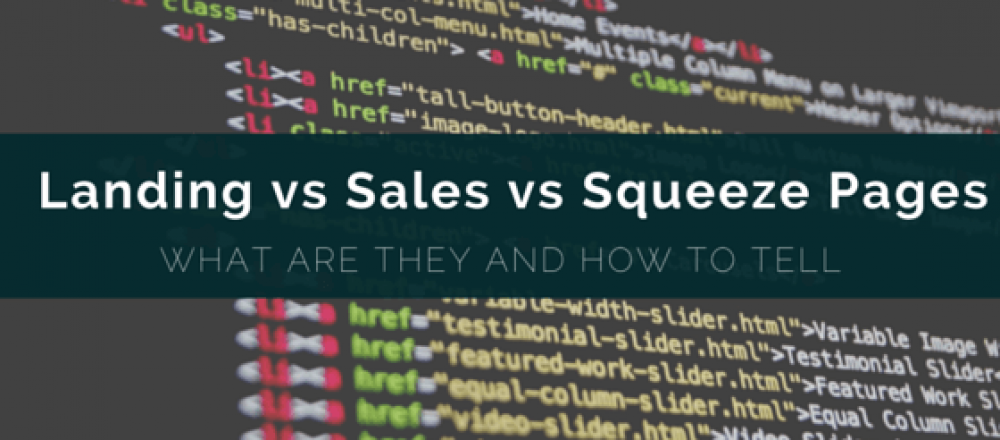 Squeeze page vs Sales page vs Landing page
