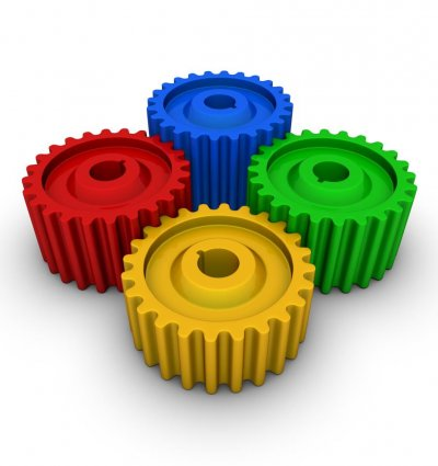 Colour psychology - colourful Gears - Techdesign